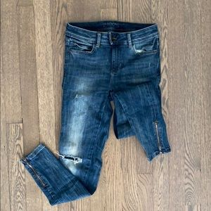 Zara Distressed Basic Denim size 2